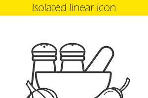 Spices linear icon. Vector
