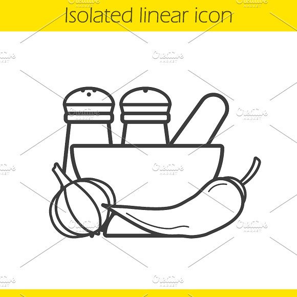 Spices linear icon. Vector - Icons