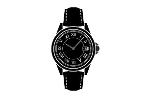 Business style hand watches. Vector