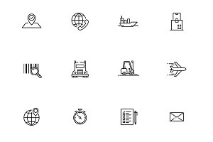 Logistic 36 icon set