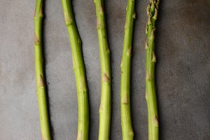 Five Asparagus Spears