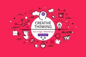 Creative Thinking hero banners set