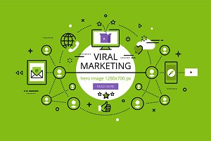 Viral Marketing hero banners set