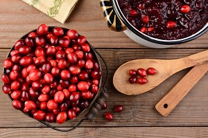 Making Cranberry Sauce Thanksgiving