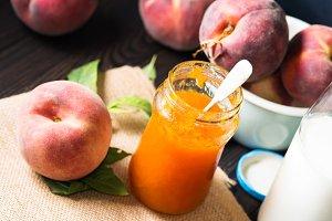 Summer peach jam