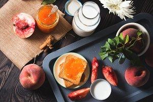 Summer breakfast still life