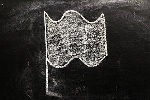 flag on chalk board
