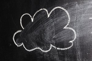 cloud on chalk board