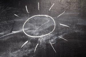 sun on chalk board