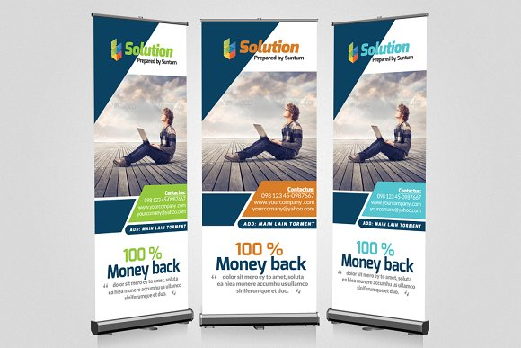 Business roll up banners templates presentation templates business roll up banners templates presentation templates creative market flashek Images