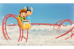 Roller coaster in the clouds