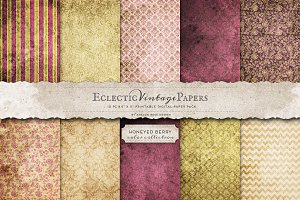 Printable Papers - Honeyed Berry