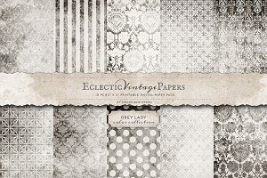 Printable Papers - Grey Lady