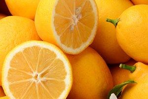 Lemons Closeup