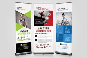 3 Business Roll Up Banners Templates