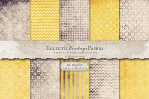 Printable Papers - Goldenrod