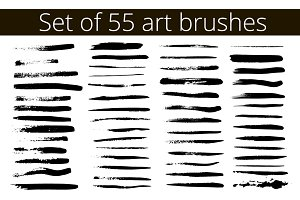 set of 55 art brushes
