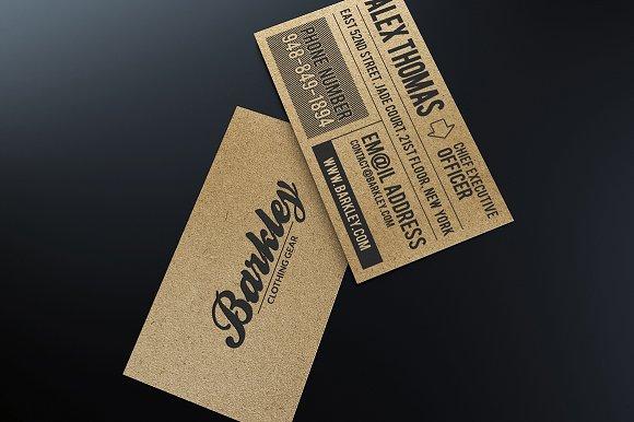 Kraft paper business card business card templates creative market reheart Images