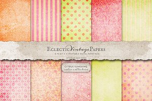 Printable Papers - Citrus Sunshine
