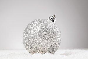 decorative ball on snow