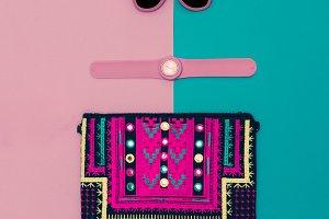 Handbags, watches, sunglasses