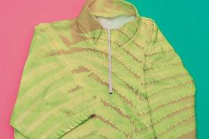 jacket with floral print. Minimalism