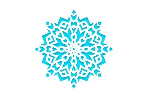 Template snowflakes laser cut
