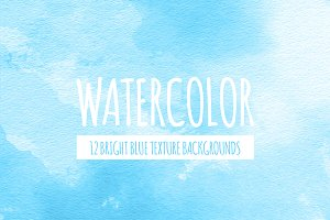 Bright Blue Watercolor Backgrounds
