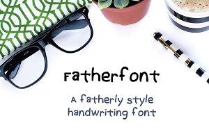 Fatherfont- Fatherly Writing Font