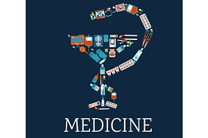 Medicine and pharmacy symbol