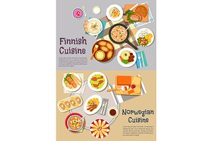 Finnish and norwegian cuisine