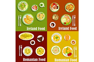 Irish and romanian cuisine elements
