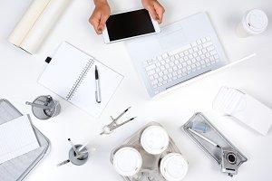 White Desk Home Office
