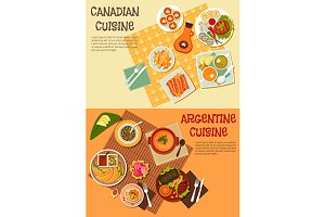 Canadian and argentine cuisine
