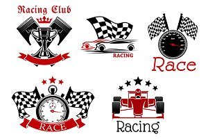 Rcing and motorsports icons