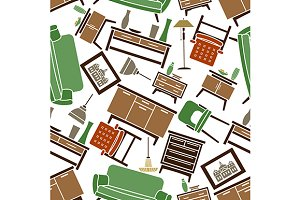 Green and brown furniture pattern