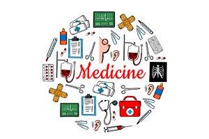 Medicine banner template