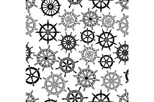 Nautical navigation seamless pattern