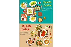 Chinese cuisine dishes menu