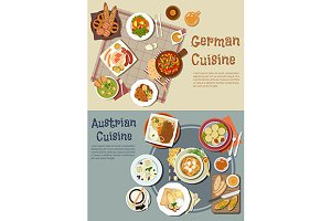 German and austrian cuisine menu
