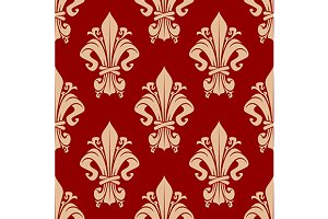 Vintage fleur-de-lis pattern