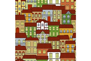 Old town cityscape pattern