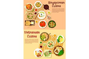 Singaporean and vietnamese cuisine