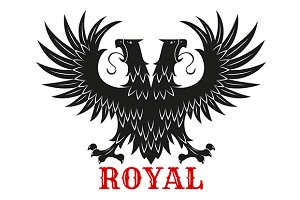 Royal doubleheaded black eagle