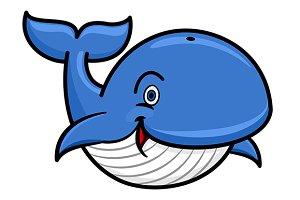 Cartoon baleen whale