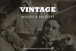 Vintage Mood Boards & Color Palettes