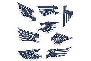 Medieval heraldry wings