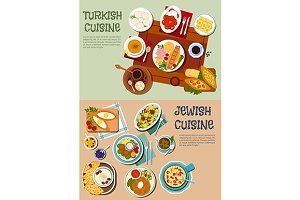 Turkish and jewish cuisine menu