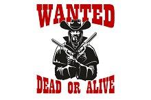 Dangerous criminal cowboy