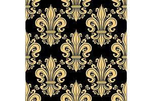 Golden fleur-de-lis pattern